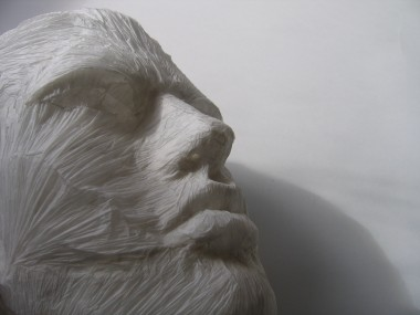 Paper Sculpture – Tissue Paper Facial Musculature