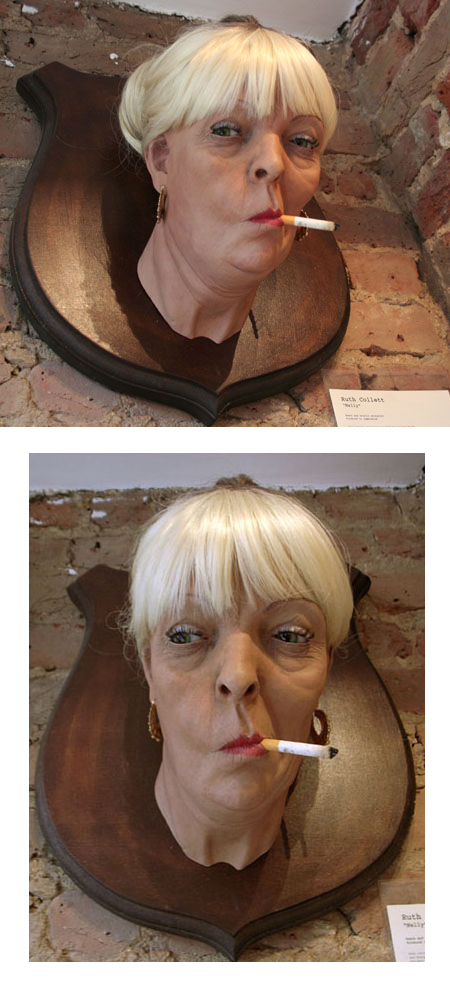 Ruth Collett - hyperealiste trophee sculpture