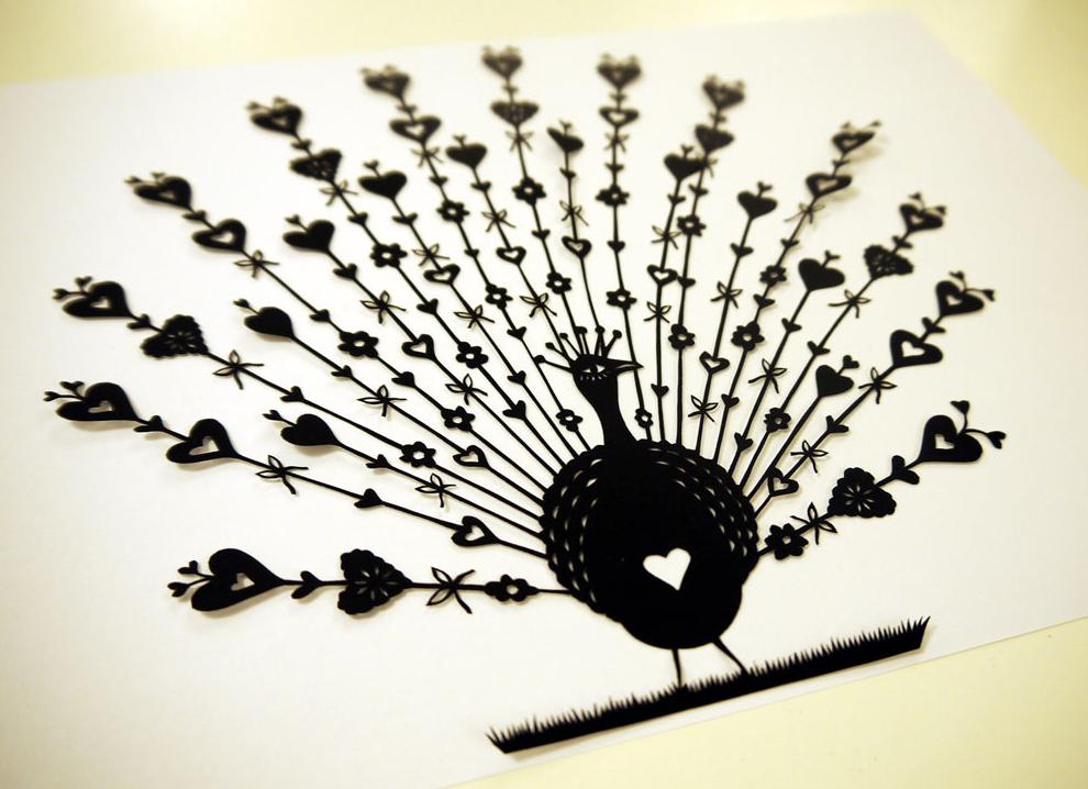 SUZY TAYLOR – Peacock papercut