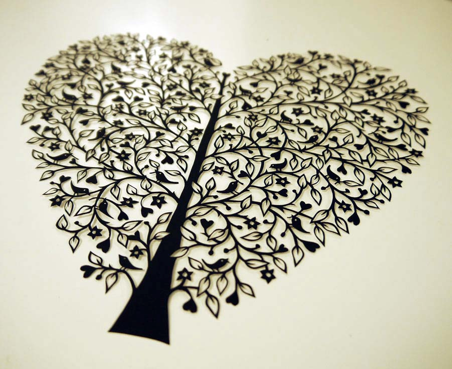 SUZY TAYLOR - Tree of Life papercut ART