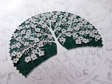 Suzy Taylor – Blossom Tree papercut Art detail