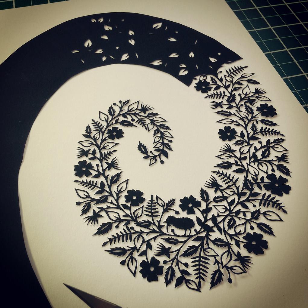 Suzy Taylor – Maori Spiral Papercut