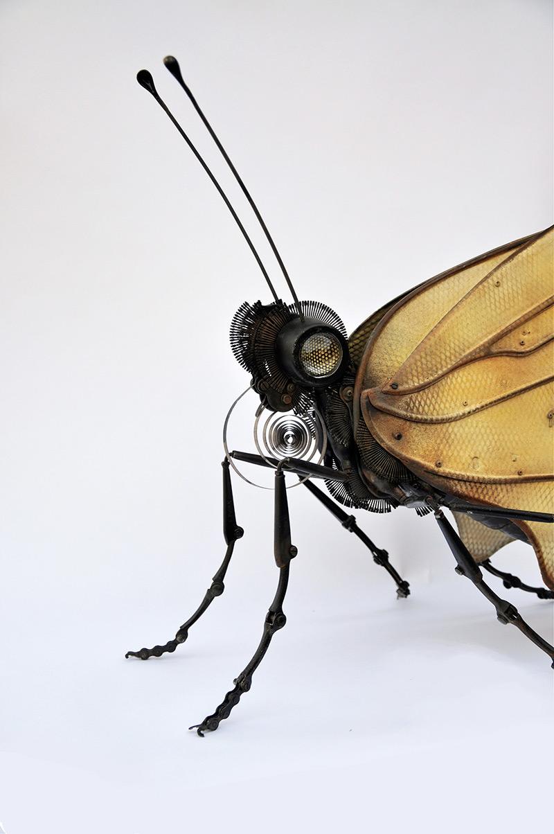 martinet – Butterfly. 25″ x 14″ x 22″ / steampunk sculpture art