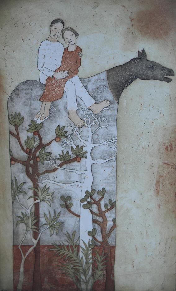 piia lehti – metsan sylissa / symbolic surrealiste art