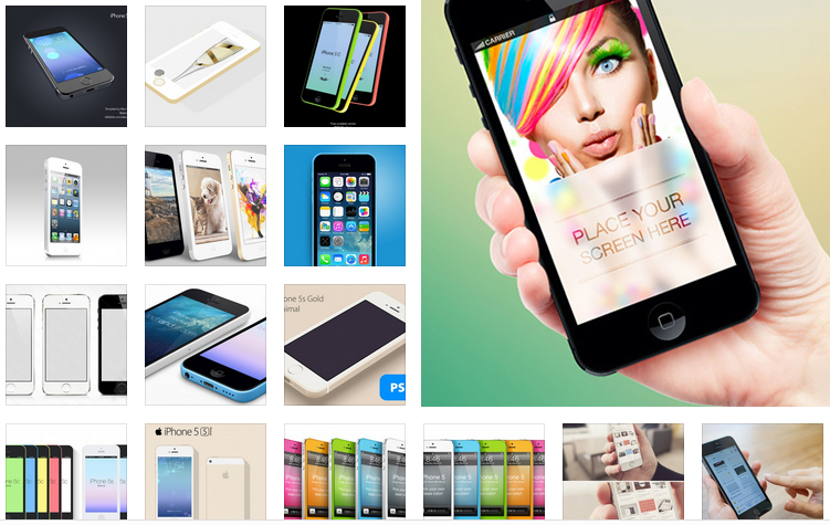 50+ Free iPhone Mock Up PSD Templates