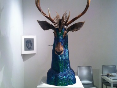 Enrique Gomez de Molina – Taxidermy Hybrid Sculptures – Cerf face