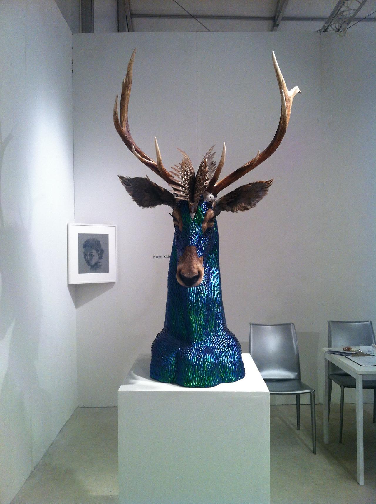 Enrique Gomez de Molina – Taxidermy Hybrid Sculptures – Cerf face