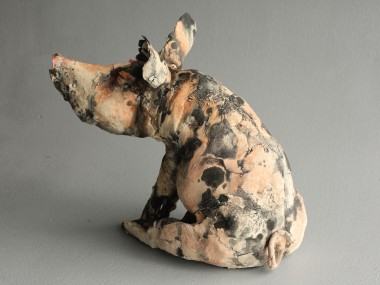 Gaynor Ostinelli – cochon – sculpteur ceramiste