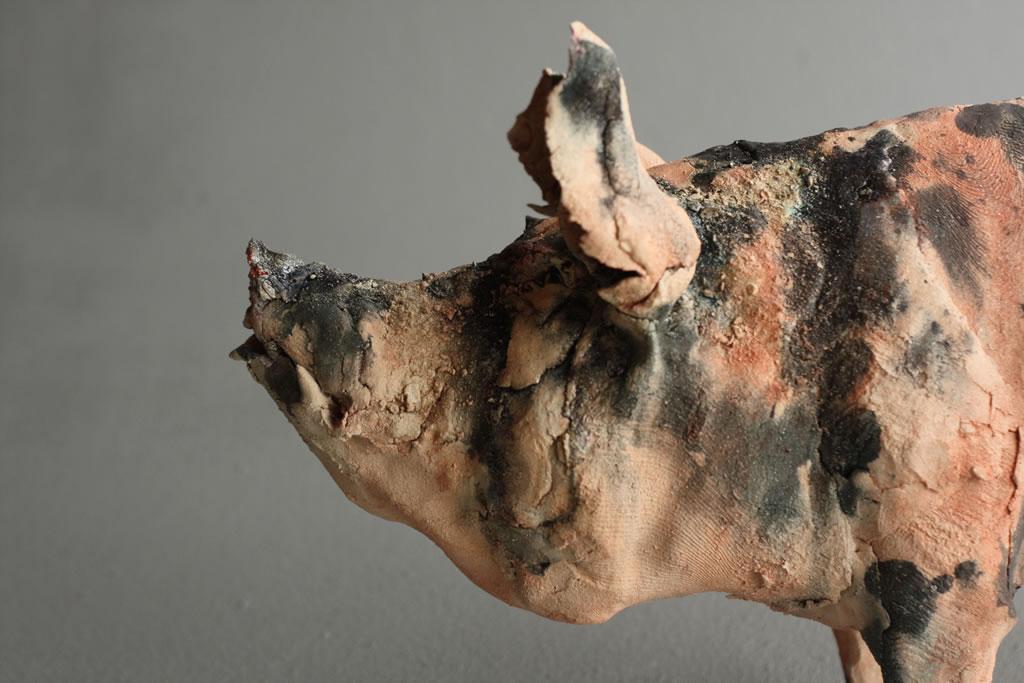 Gaynor Ostinelli – cochon – sculpteur ceramiste2