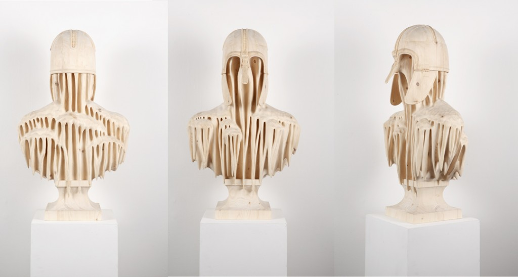 Morgan Herrin - coppergate_three-sides_l / Wood sculptures
