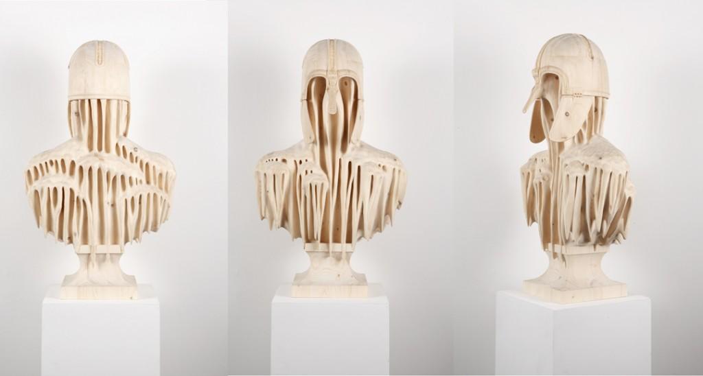 Morgan Herrin - coppergate_three-sides_l / Wood sculptures
