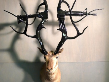 Peter Gronquist -The Quick and the Dead / Gun taxidermy sculpture