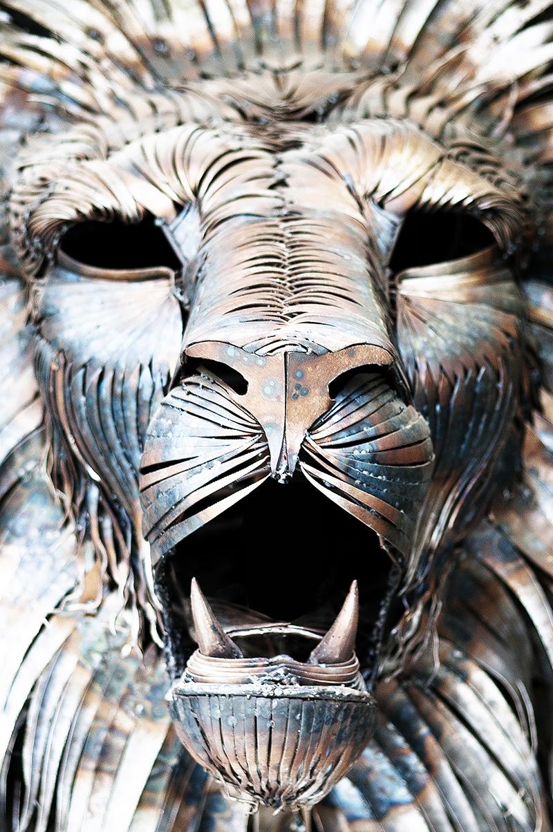 Selçuk Yılmaz – Lion face – Steampunk sculpture