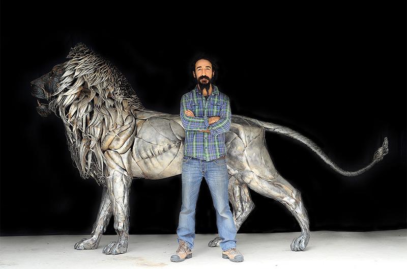 Selçuk Yılmaz - Portrait with Lion
