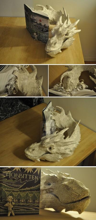 Smaug-dragon fartoomanyideas - Paper-ART Sculpture - Seigneur des anneaux