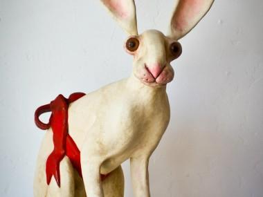 Valency Genis – Bestiaire : sculpture lapin, bunny