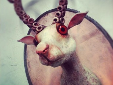 Valency Genis – strange sculptures / Bestiaire, trophée de chasse original / creatures