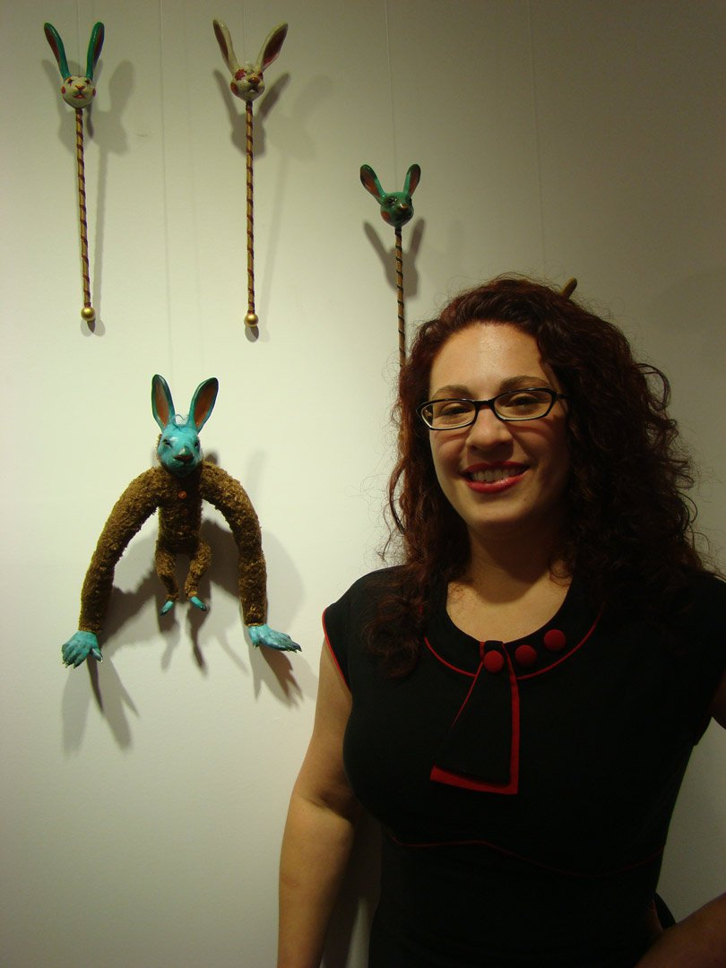 Carisa Swenson and her cool rabbit dolls / portrait