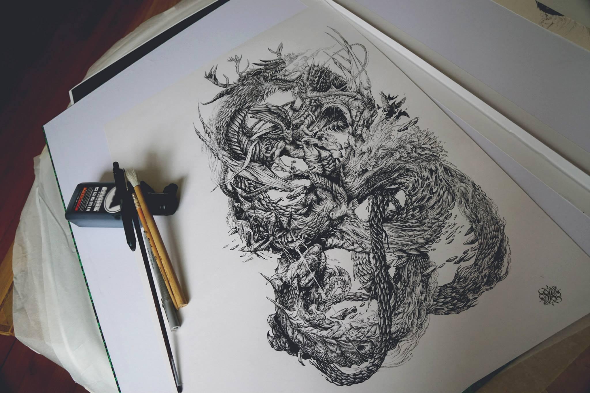DZO – ink artwork – Artiste