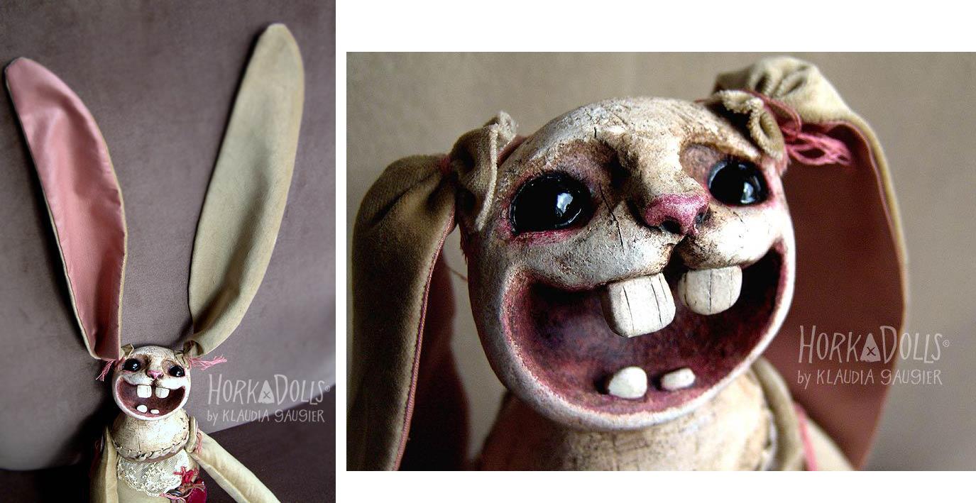 HORKA DOLLS – Art dolls sculptures-bunny