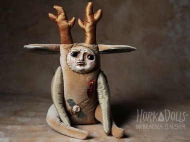 HORKA DOLLS – Art dolls sculptures – cerf creature