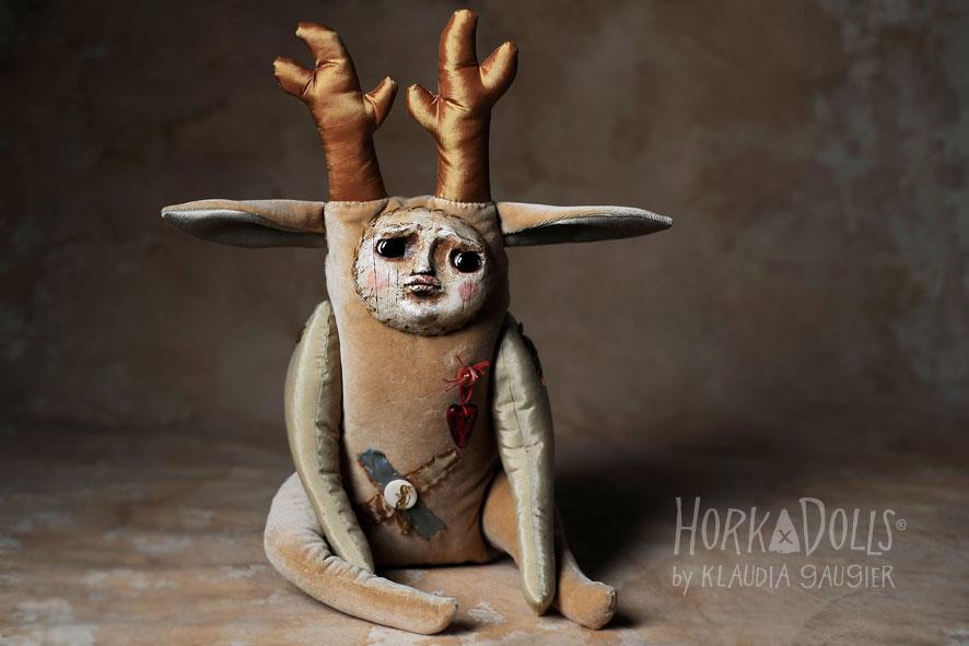 HORKA DOLLS – Art dolls sculptures – cerf creature