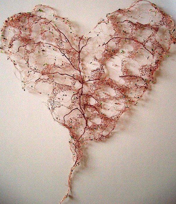 Kerry Mosley – heart – Mixed media Textile Artist