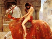 Lady Godiva - (JohnCollier) tableau et légende