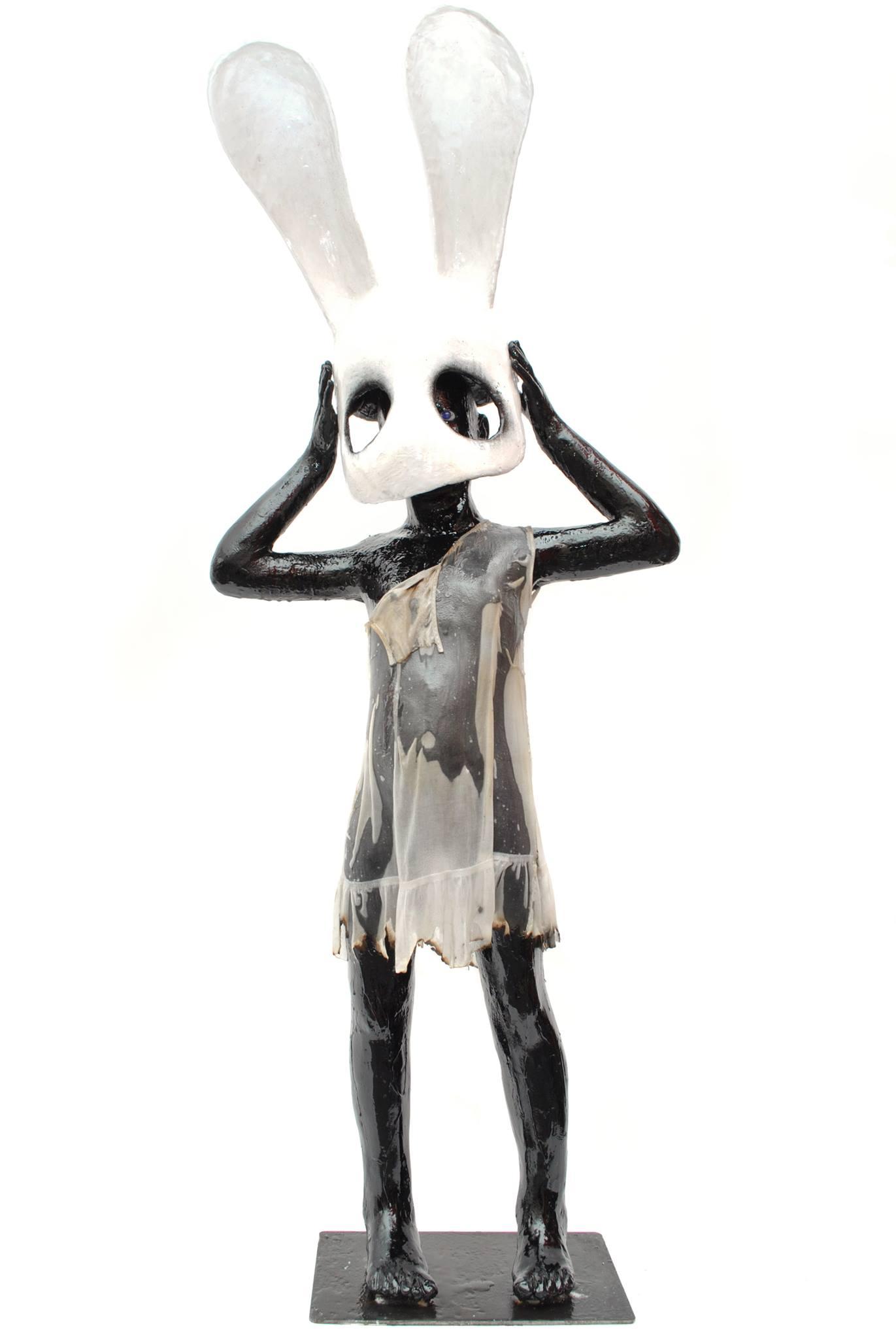 """Paul Toupet – Sculpture """"Black black"""" 2016 – 163 cm"""