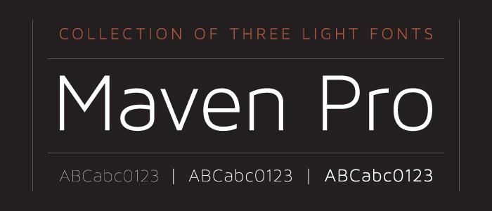maven pro font I Love