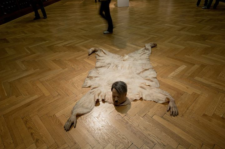 richard stipl - Envisions Hitler as a Bear Skin Rug