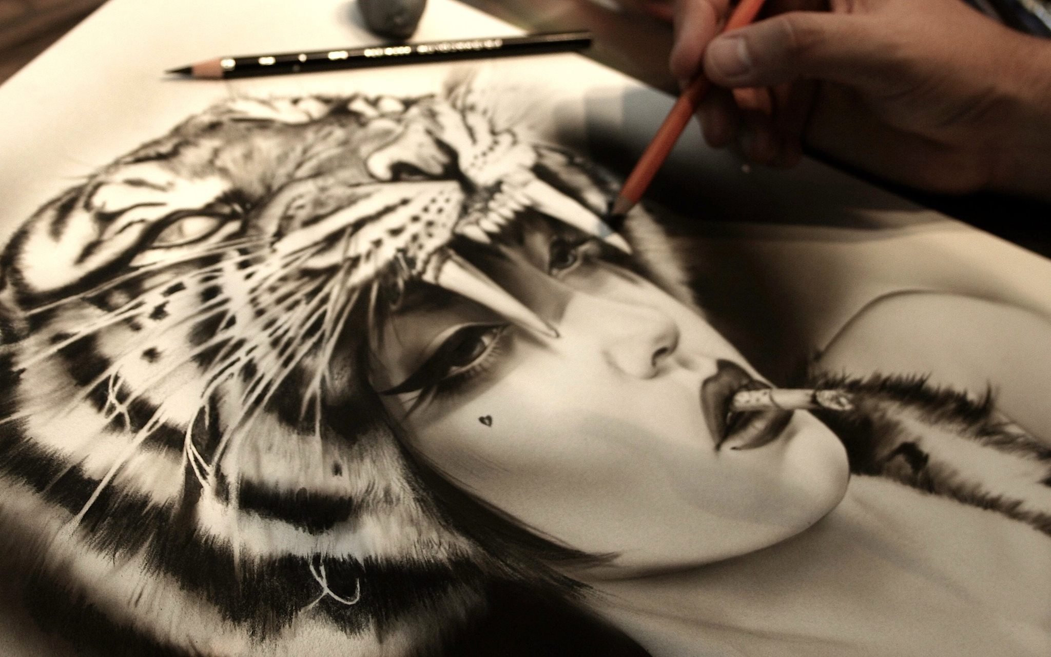Brian M. Viveros – Eye Of The Tiger / Paintings