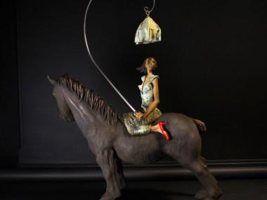 Dirk De Keyzer – Mes Souliers Sont Rouges – Sculpture Bronze