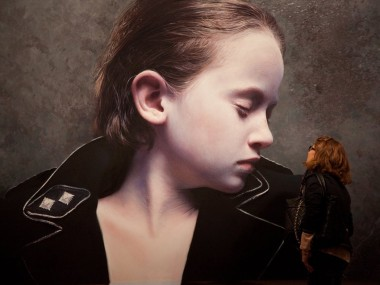 Gottfried Helnwein – The Murmur of the Innocents 25 – oil & acrylic on canvas 2011 – 200 x 342cm