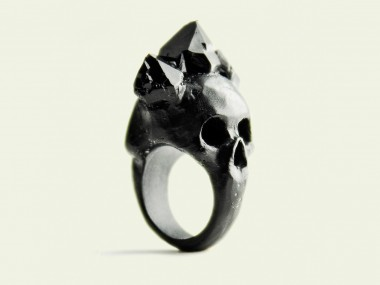 Macabre Gadgets – Rings Black bifacial skull / Beautiful rings