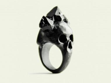 Macabre Gadgets – Rings Black bifacial skull / Beautiful rings