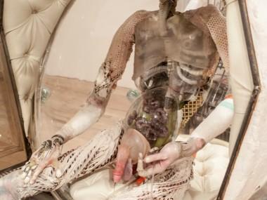 Monica Cook – mixed media sculptures – astro detail