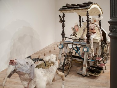 Monica Cook – mixed media sculptures – The Goat Cart / 2013
