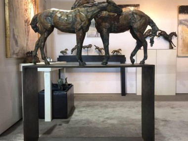 Stephanie Revennaugh – horses sculpture
