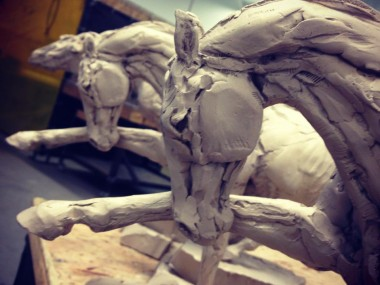 Stephanie Revennaugh – sculpture horse / In progress