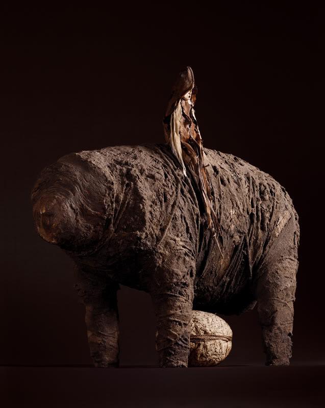 jephan de villiers – L'ange et l'ours / Sculptures matieres naturelles