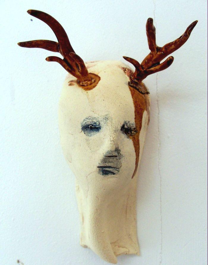 Claire Palfreyman – sculptures – Antler Mask II