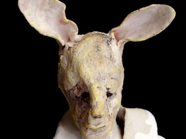 Claire Palfreyman – sculptures – Yellow Rabbit Boy