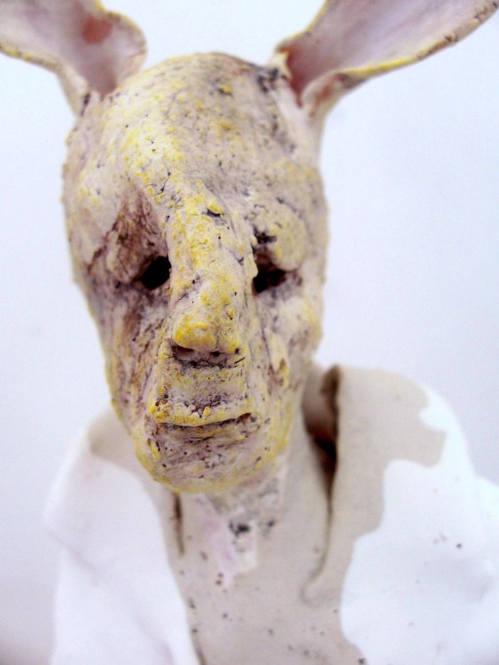 Claire Palfreyman – sculptures – Yellow Rabbit Boy