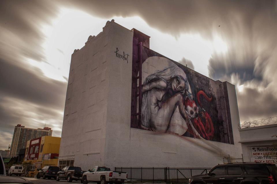 Herakut – paintings – miami /  Street artist