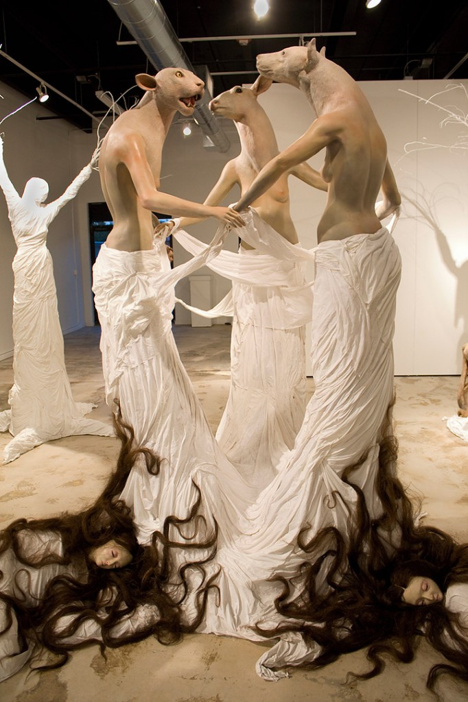 Leah Brown sculptures - Borderland