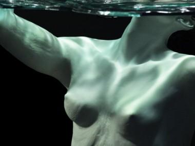 Cameron Stalheim – sculpture -Currents – 2013 Aqua Resin, Urethane Resin, Steel, Wood, Acrylic detail