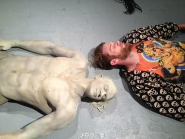 Cameron Stalheim – sculpture Merman – Donors, Plastic, Foam, Steel, Acrylic