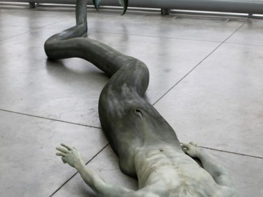 Cameron Stalheim – sculpture Merman – Donors, Plastic, Foam, Steel, Acrylic