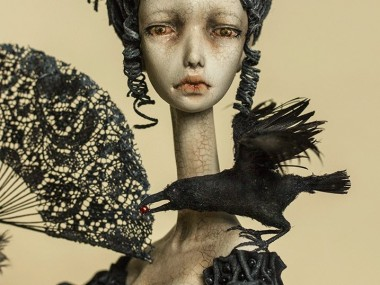 Dorote Zaukaite – Beautiful dolls mixed media art – Winter is coming